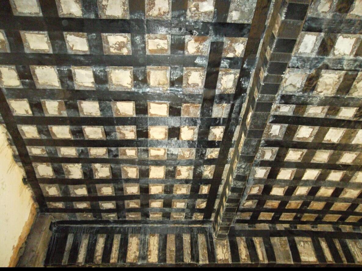 某房屋楼板贴碳纤维布加固工程