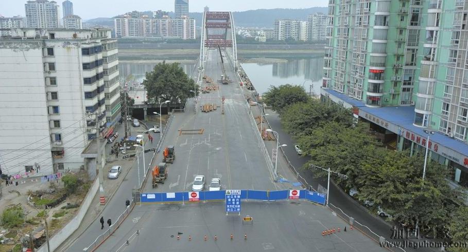 绵阳市质监站关于涪江三桥改造加固工程进行交工验收质量检测