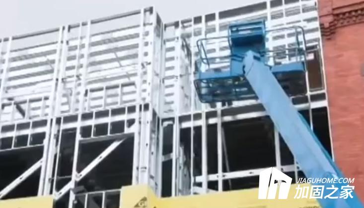 轻钢别墅之轻钢框架轻钢楼板梁结构及施工方法