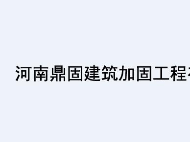 河南鼎固建筑加固工程有限公司