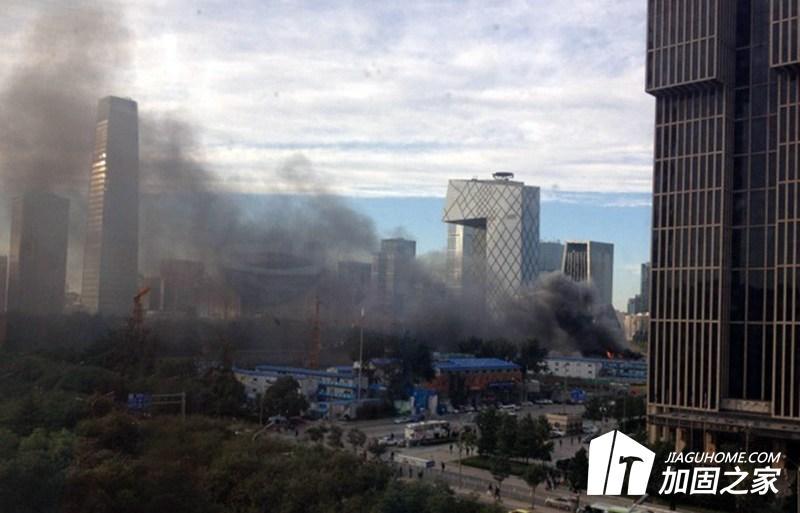 北京某建筑工地现场发生火灾