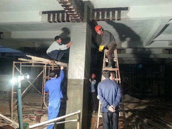 江门中医院柱加大截面加固工程项目