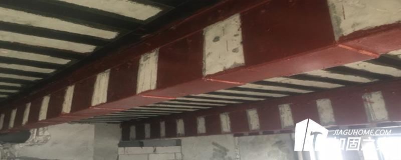 厂房采用粘钢加固法